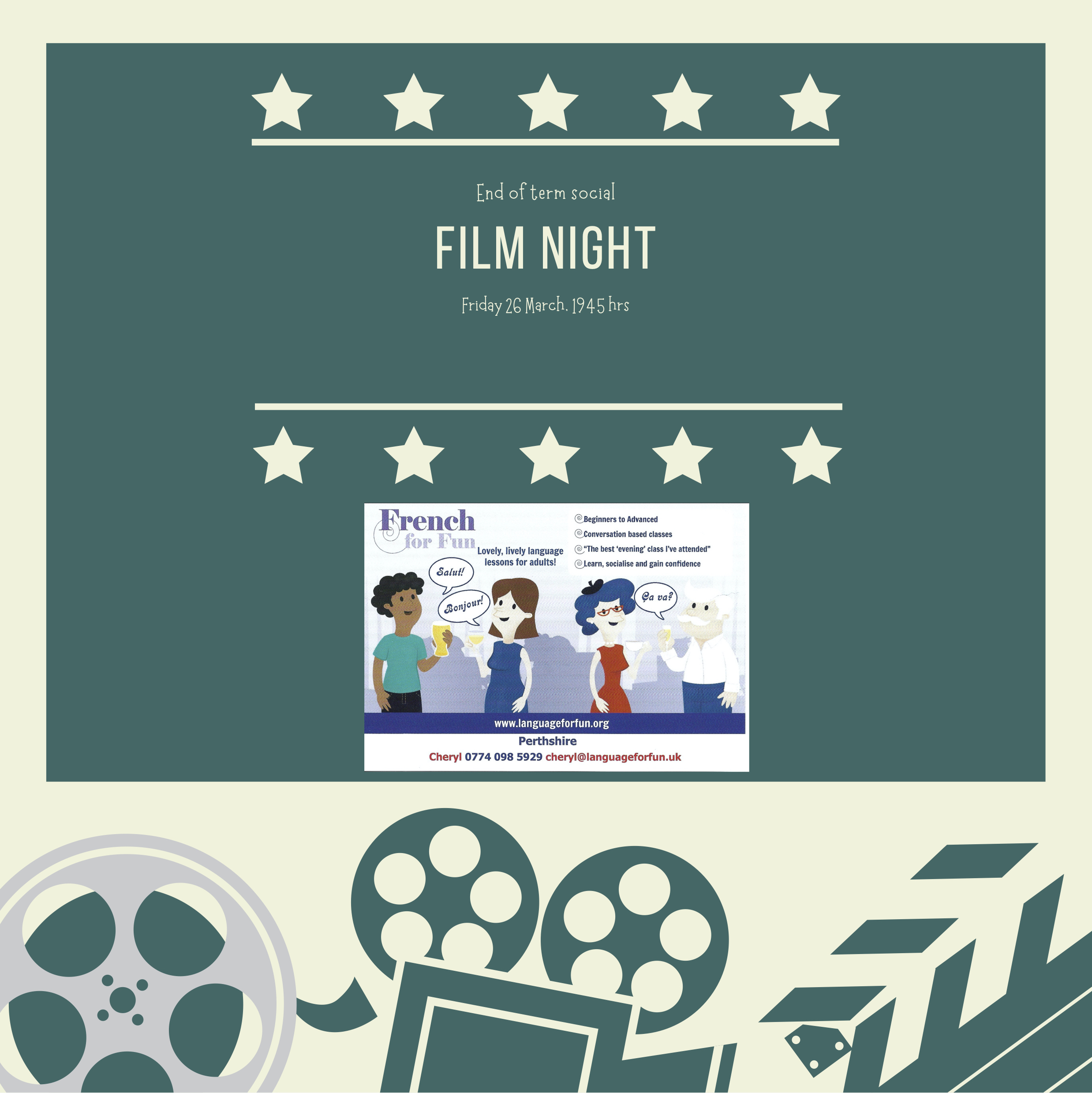 French for Fun in Perthshire – film night