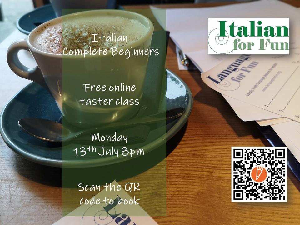 Free Italian beginners taster class