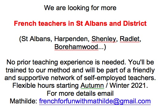 French Teachers wanted in St Albans District