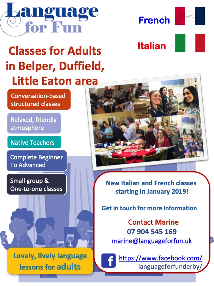 Italian classes Starting in January 2019 !