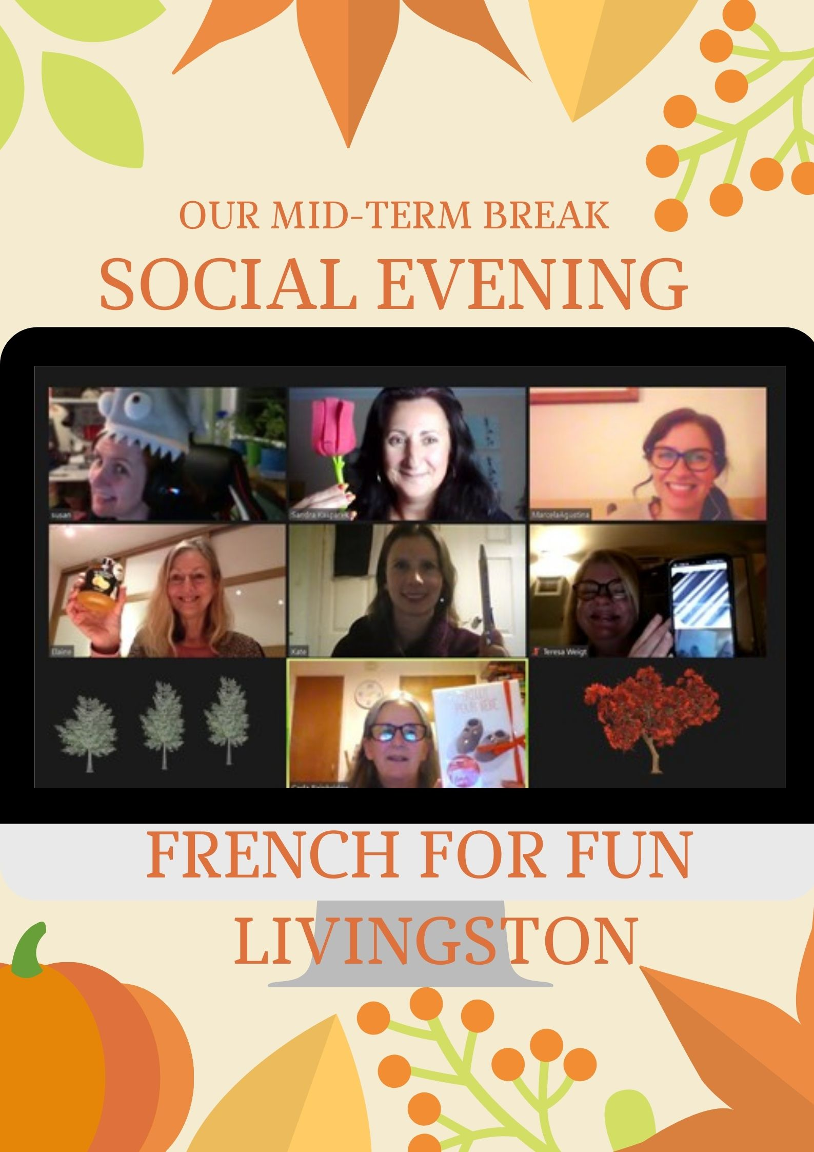 Our October mid-term online French For Fun social !