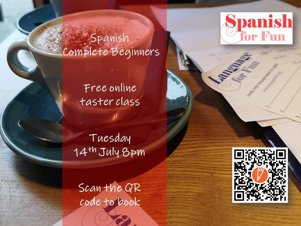 Free Spanish beginners taster  class