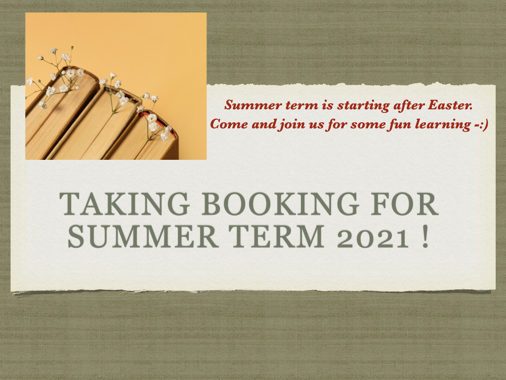 We are ready for Summer term 2021 !