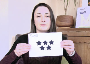 An average 5 star rating from students